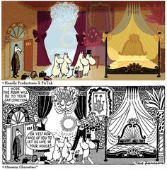 A first look at Moomins on the Riviera We wanted to give you a first glimpse of the new film Moomins on the Riviera and at the same time sh. Moomin Valley, Tove Jansson, Museum Exhibition, Comic Strips, All Things, Sketches, The Originals, Comics, Classic