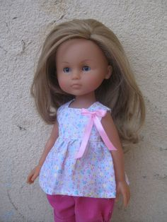 """Clothes for Corolle Les Cheries,Paola Reina Outfit ~13"""" Doll Top and Pants"""