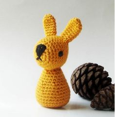 Crocheted Bunny Rattle . Petit and Cute Design