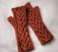 Strong Heart Short fingerless mitts