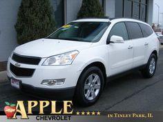2012 Chevrolet Travers LT 1 LT - Stk # 51190 - $16,497 - http://www.applechevy.com/VehicleDetails/used-2012-Chevrolet-Traverse-LT_w%2F1LT-Tinley_Park-IL/2671290193