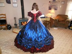 1860s Ballgown by forteisbest on craftster. She made all the undergarments too.