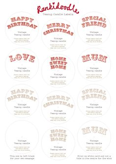 Rankidoodle: Free downloadable teacup candle labels