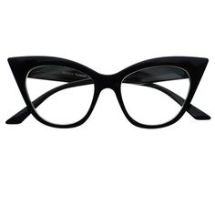 Retro Vintage Womens Fashion Clear Lens Cat Eye Glasses Frames C1150 ($9.95) ❤ liked on Polyvore