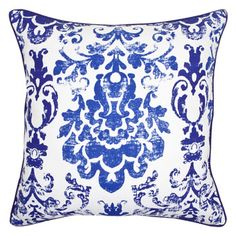 Damask Print Cushion by Zara Home Ideal Home, Throw Pillows, Cushions, Home, Damask Print, Printed Cushions, Zara Home, Blue Bedroom, Cushion Pads