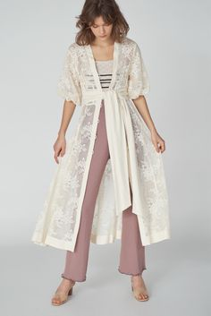 Pll Outfits, Layers Of Skin, Japanese Fashion, Cotton Linen, Fashion Brands, Duster Coat, Kimono Top, Spring Summer, Jackets