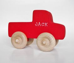 Wooden Monster Truck, Waldorf Toy, Pretend Play, Waldorf Toy