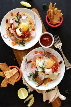 Gluten Free Mexican Breakfast Tostadas by minimalistbaker #Breakfast #Tostados #GF