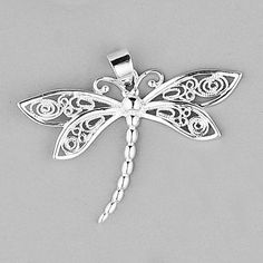 dragonfly pendant   P569 Sterling silver dragonfly pendant