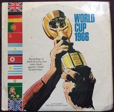 1966 WORLD CUP ENGLAND *ORIGINAL* DOUBLE LP RECORD. COMMENTARIES ON WORLD CUP