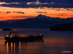 Sunrise from Anacortes,  Washington