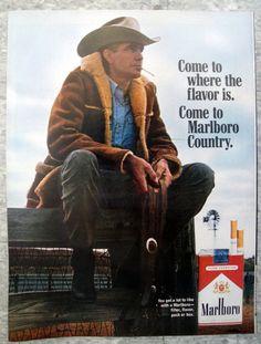 1967 Marlboro Man Country Sitting On Fence Original * Magazine Ad Malboro, Vintage Cigarette Ads, Cutting Horses, Marlboro Cigarette, Marlboro Man, Retro Ads, Horse Saddles, Magazine Ads, Vintage Signs
