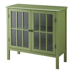 Threshold Windham 2 Door Accent Cabinet (Green) Threshold