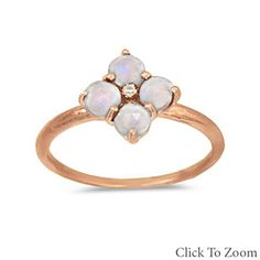 Moonstone Flower Design Rose Gold Ring by Salerno's Jewelry Stores on Opensky