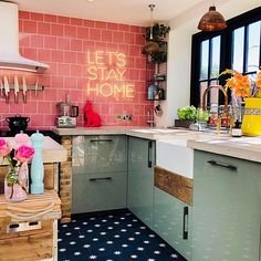 Let's Stay Home - love this kitchen by (@kasie_barton)