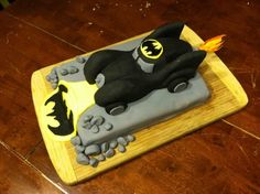 My son's B-day today. Batmobile Cake. - Collectors Society Message Boards