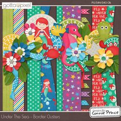 Under The Sea - Border Clusters :: Gotta Pixel Digital Scrapbook Store from Designs by Connie Prince