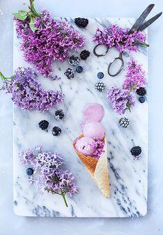 Blackberry Ice Cream via Call me Cupcake #icecream # blackberry #recipe