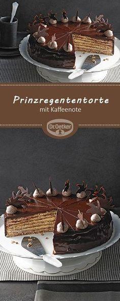 Passend zur Pantone Trendfarbe Emperador: Prinzregententorte mit Kaffeenote - Edle Prinzregententorte, getränkt mit Mokka #12Tage12Farben #Rezept #Trend