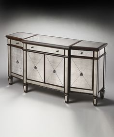 Love this Hardwood & Brass Buffet by Butler Specialty Company on #zulily! #zulilyfinds. Would be so pretty in like an entrance way or living room