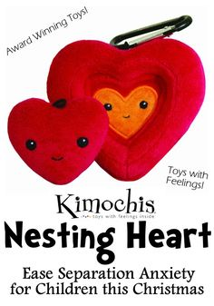 Kimochis Nesting Heart. Ease Separation Anxiety. Fabulous gift idea