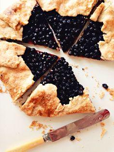 sweetsugarbean: In Dreams: Saskatoon Berry Galette & Big Book News Saskatoon Recipes, Saskatoon Berry Recipe, Fruit Recipes, Baking Recipes, Dessert Recipes, Baking Desserts, Just Desserts, Delicious Desserts, Gallette Recipe