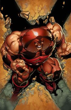"""""""""""Ain't you heard, Cyttorak? I'm unstoppable."""" – Juggernaut """" Cover art for X-Men: Black - Juggernaut """"Stoppable"""" Art by J. Scott Campbell and Sabine Rich Marvel Comic Character, Comic Book Characters, Marvel Characters, Comic Books Art, Comic Art, Book Art, Arte Dc Comics, Marvel Comics Art, Marvel Vs"""