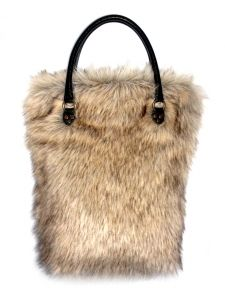 A very big bag made form high quality faux fur