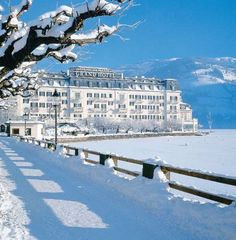 Grand Hotel at Zell Am See.  Lakeside with awesome views.
