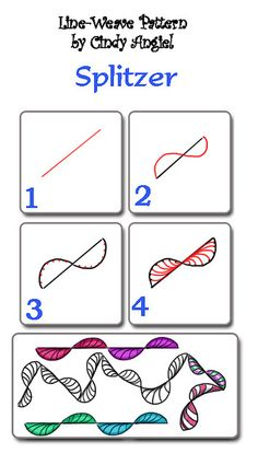 Splitzer Pattern    You can download this pattern from  rainbowelephant.com and  also  a quick little how-to video showing you the drawing steps and a few examples too. :)