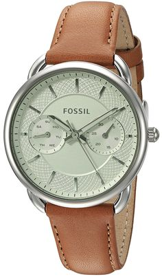 Fossil Women's ES3977 Tailor Multifunction Watch With Dark Brown Leather Band ** Find out more about the great watch at the image link.