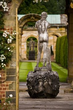 An early classical sculpture, Hever Castle Gardens, Kent, England by David C. Phillips