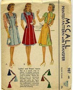 1940s Apron with Tassels!