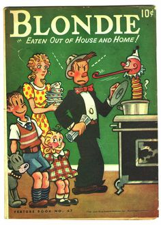 """Blondie"" and husband,Dagwood, comic strip characters.  1946 children's book."