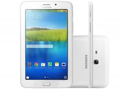"Tablet Samsung Galaxy E 8GB Tela 7"" Wi-Fi - Android 4.4 Quad-Core Câm. 2MP + Frontal 2MP GPS"