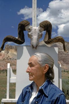 Georgia OKeeffe, Ghost Ranch, NM, 1968, by photographer Arnold Newman