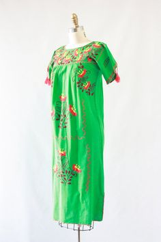 OAXACAN BEAUTY Vintage 70s Dress 1970's Floral by lovestreetsf