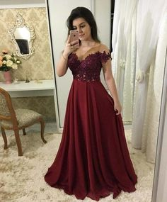 A-line Appliqued Long Prom Dress Fashion Pageant Dress School Party Dress Fashion Wedding Party Dress فساتين خمري School Dance Dresses, A Line Prom Dresses, Best Wedding Dresses, Dresses For Teens, Bridesmaid Dresses, Long Dresses, Long Sleeve Formal Dress, Dresses Dresses, Bride Dresses