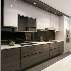Good U Shaped KitchenModern White KitchensApartment KitchenCondosKitchen Ideas