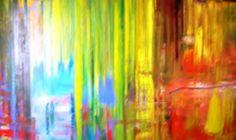 """Francisco Zañartu C. """"Abstracción N° 2"""" óleo sobre lino 300 x 200 cm. Año 2012.-"""