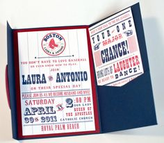 Baseball Team Themed Wedding Invitation - Customized to your Favorite Team... these are actually a great deal!