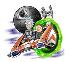 Rick and Morty x Star Wars