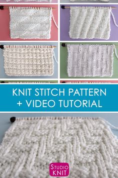 This Easy Diagonal Chevron Zigzag Knit Stitch Pattern has a really bold graphic design. loom videos Diagonal Chevron Zigzag Knit Stitch Pattern with Video Tutorial Knit Stitches For Beginners, Types Of Knitting Stitches, Knitting Stiches, Knitting Videos, Easy Knitting, Loom Knitting, Knitting Patterns Free, Stitch Patterns, Quick Knitting Projects