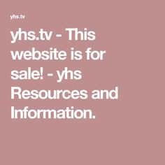 yhs.tv - This website is for sale! - yhs Resources and Information.