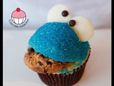 Cookie Monster Cupcakes!! Easy Sesame Street Cupcakes - A Cupcake Addiction How To Tutorial