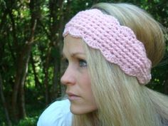 Crochet Pink Headband Pattern by Crafts by Starlight