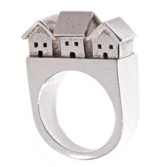 Neighborhood Ring by JDavisStudio. $220.00 Sterling silver