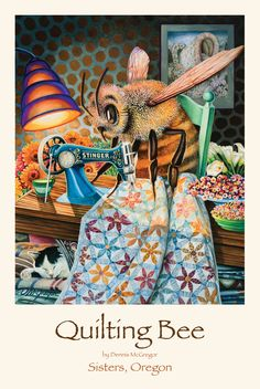 Dennis McGregor is a Sisters, OR fine artist and author of two children's books: You Stole My Name and Dream Again. Second Child, Colour Images, Childrens Books, Coloring, Bee, Quilting, Posters, Drawings, Artist