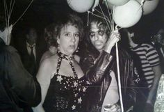 Jean Stapleton and Alice Cooper at Studio 54 (1977)