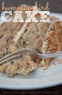 Hummingbird Cake is practically a Southern institution!  This super-moist version is packed full of bananas, pineapple, and a little coconut, and topped off with a browned butter cream cheese frosting that will make you cry it is so good.  A great way to use up overripe bananas, this cake is a must-try!